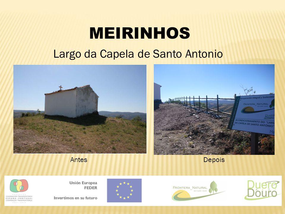 MEIRINHOS Largo da Capela de Santo Antonio AntesDepois