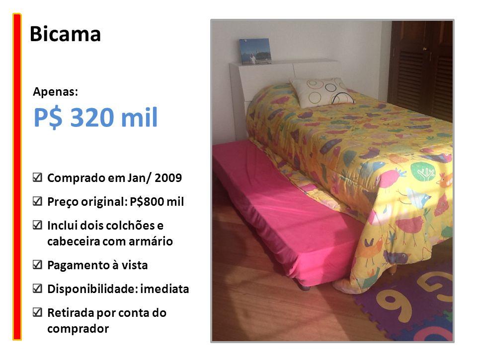 Bicama Comprado em Jan/ 2009 Preço original: P$800 mil Inclui dois colchões e cabeceira com armário Pagamento à vista Disponibilidade: imediata Retira
