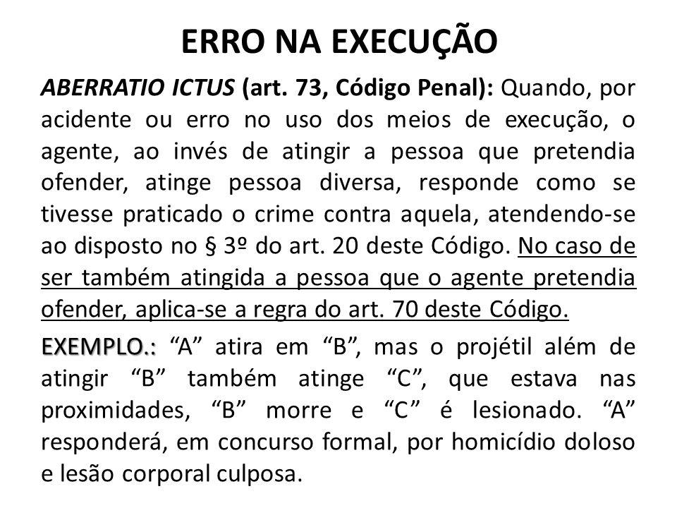 RESULTADO DIVERSO DO PRETENDIDO ABERRATIO CRIMINIS (Art.