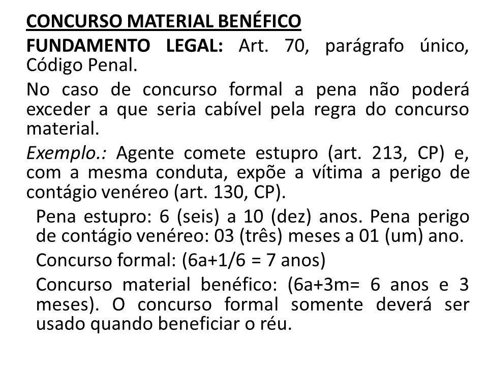 CONCURSO FORMAL IMPRÓPRIO OU IMPERFEITO FUNDAMENTO LEGAL: Art.