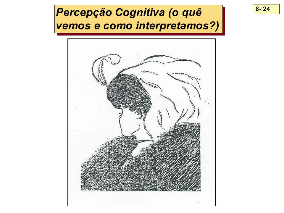 8- 24 Percepção Cognitiva (o quê vemos e como interpretamos?)