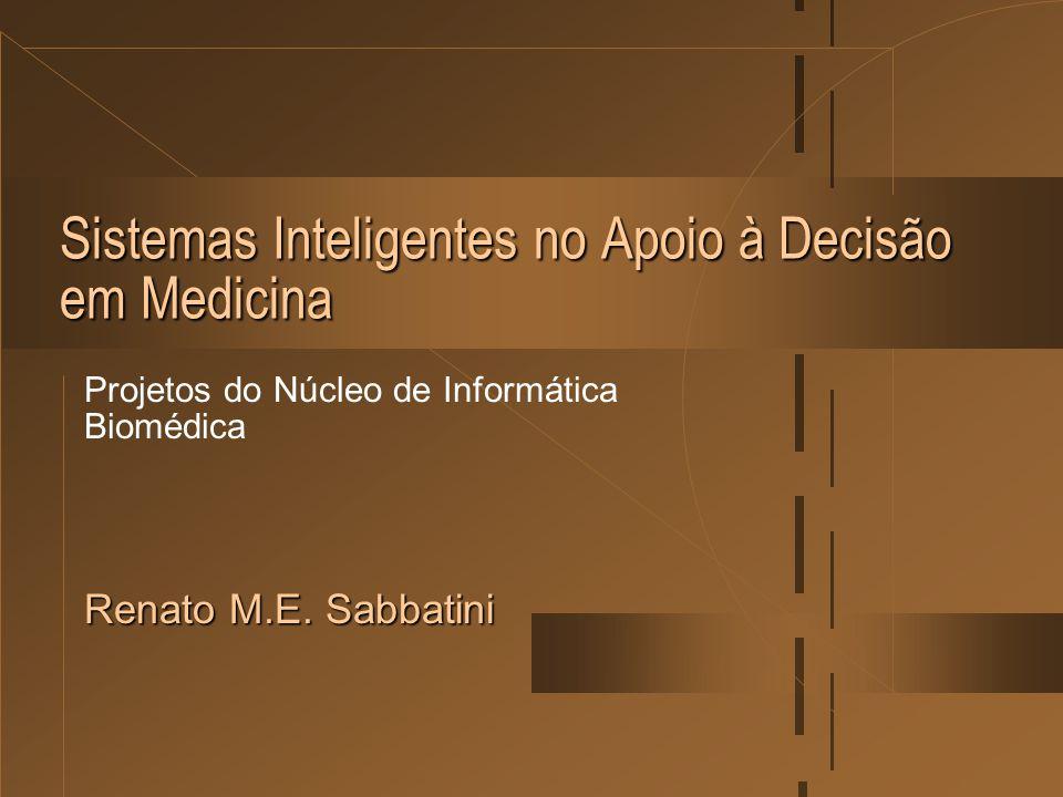 Sistemas Inteligentes no Apoio à Decisão em Medicina Projetos do Núcleo de Informática Biomédica Renato M.E. Sabbatini
