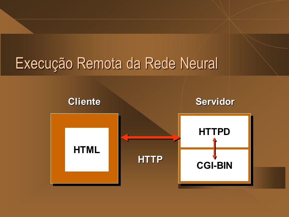 Execução Remota da Rede Neural Cliente Servidor HTTP CGI-BIN HTTPD HTML