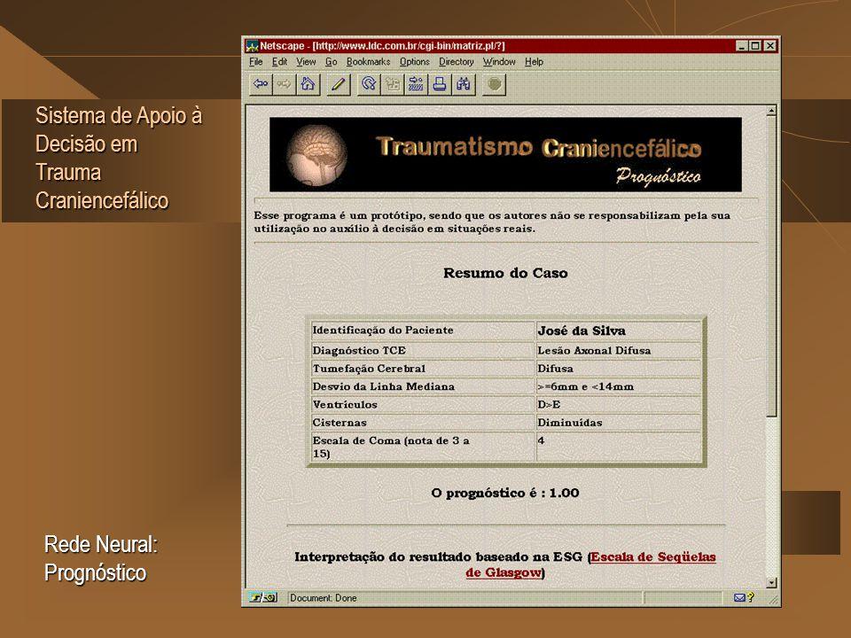 Sistema de Apoio à Decisão em Trauma Craniencefálico Rede Neural: Prognóstico