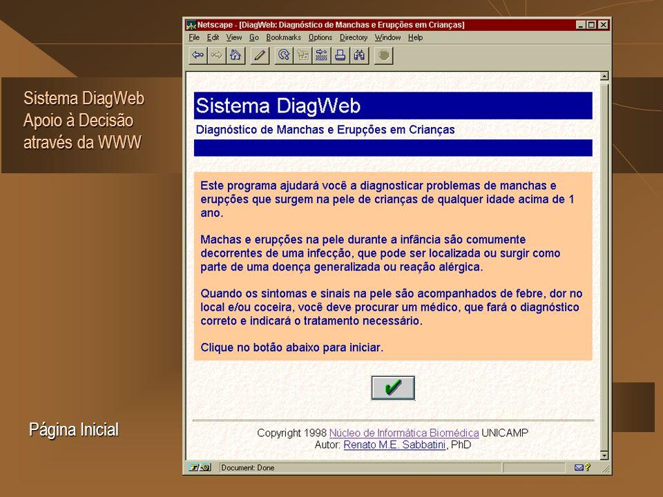 Sistema DiagWeb Apoio à Decisão através da WWW Página Inicial