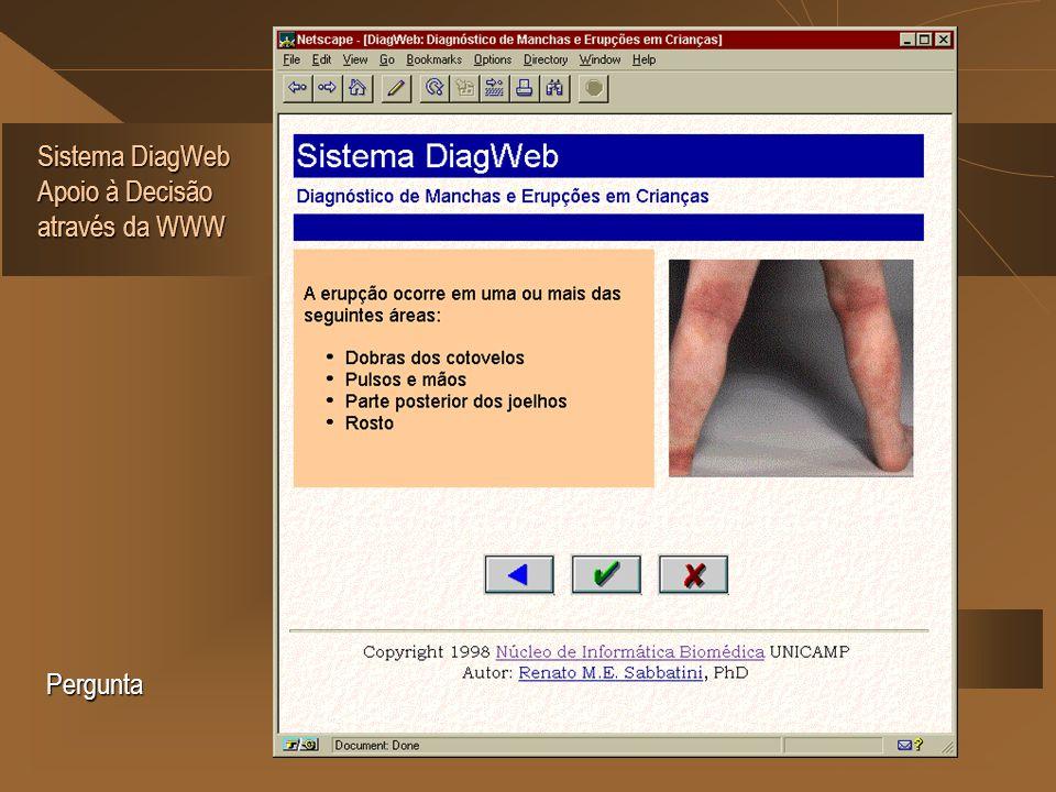 Sistema DiagWeb Apoio à Decisão através da WWW Pergunta