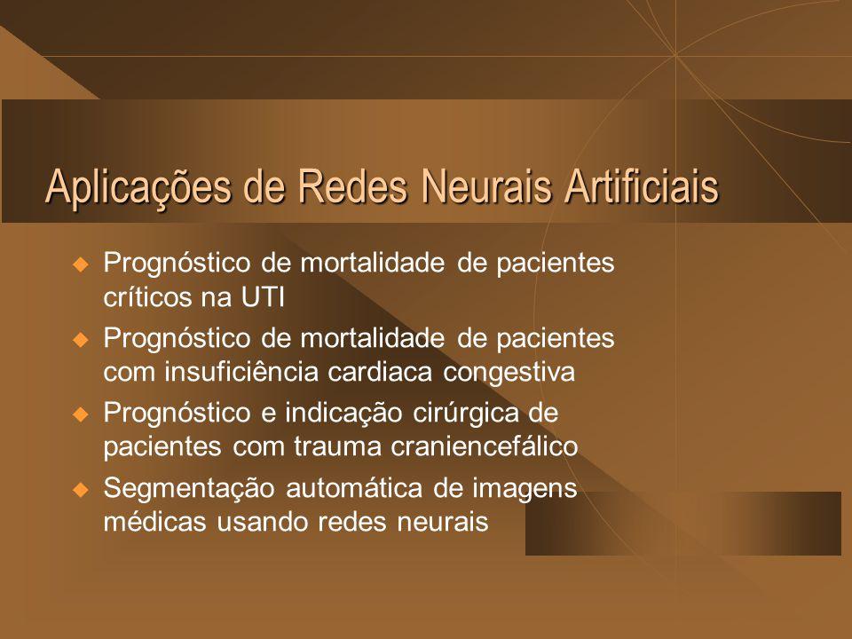 Aplicações de Redes Neurais Artificiais  Prognóstico de mortalidade de pacientes críticos na UTI  Prognóstico de mortalidade de pacientes com insufi