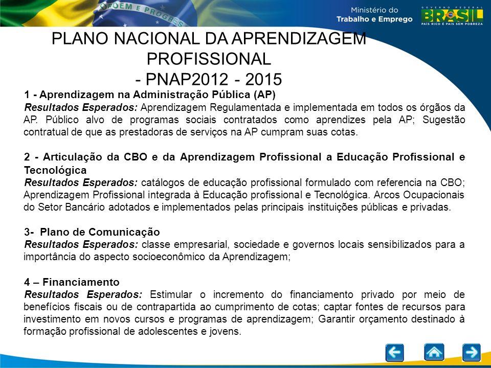 1 - Aprendizagem na Administração Pública (AP) Resultados Esperados: Aprendizagem Regulamentada e implementada em todos os órgãos da AP. Público alvo