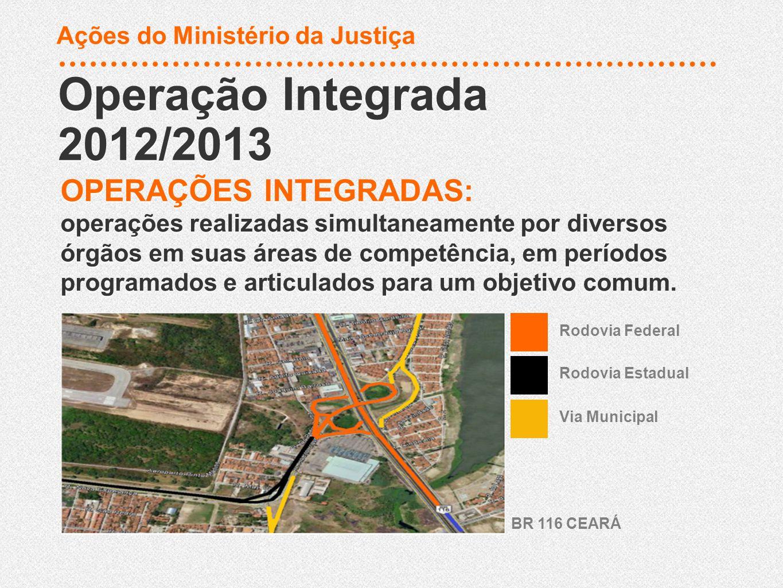 Operação Integrada 2012/2013 Operação Integrada 2012/2013 OPERAÇÕES INTEGRADAS: operações realizadas simultaneamente por diversos órgãos em suas áreas
