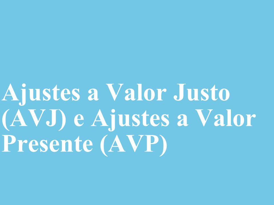 © 2014 Deloitte Brasil Auditores Independentes Ltda. Ajustes a Valor Justo (AVJ) e Ajustes a Valor Presente (AVP)