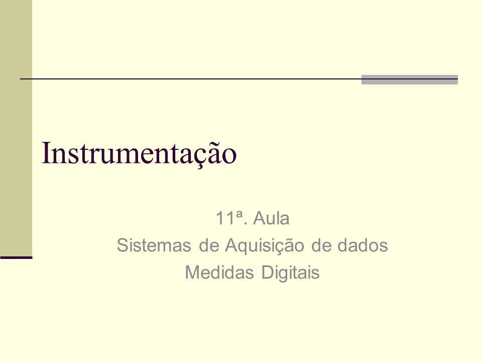 Instrumentação 11ª. Aula Sistemas de Aquisição de dados Medidas Digitais