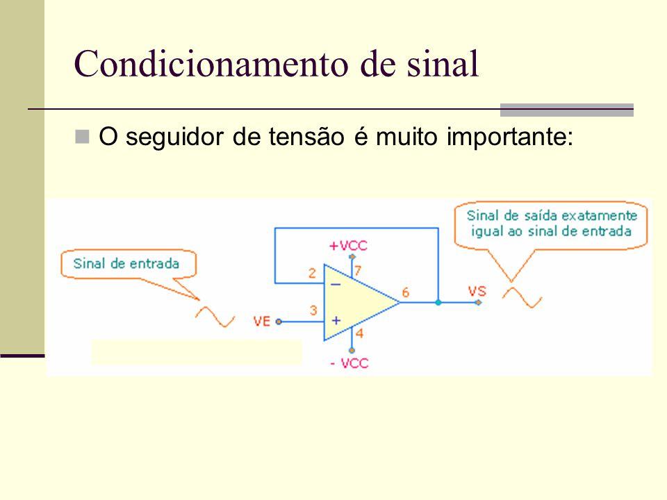 Condicionamento de sinal O seguidor de tensão é muito importante: