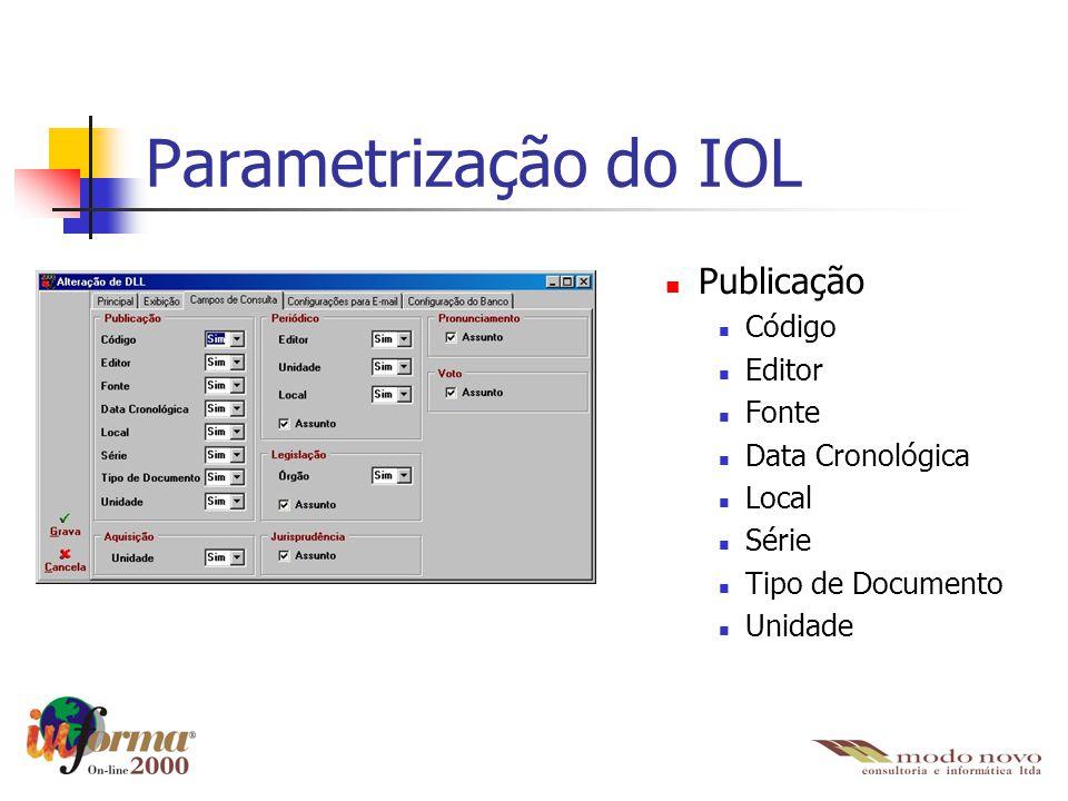 Publicação Código Editor Fonte Data Cronológica Local Série Tipo de Documento Unidade Parametrização do IOL