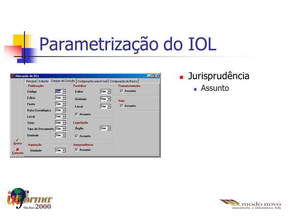 Jurisprudência Assunto Parametrização do IOL