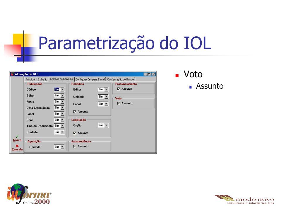 Voto Assunto Parametrização do IOL
