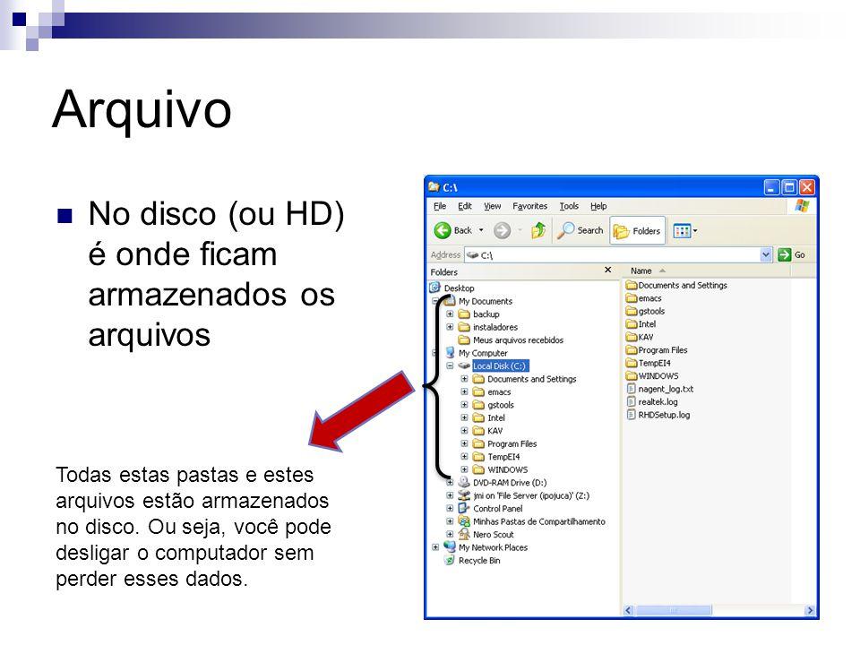 Arquivo {Cria e grava um arquivo de inteiros.} Program arquivo2; var arquivo: file of integer; i,n: integer; begin Assign(arquivo, quadrados.arq ); Rewrite(arquivo); i := 1; while (i <= 50) do begin n := i * i; write(arquivo,n); i := i + 1; end; close(arquivo); end.