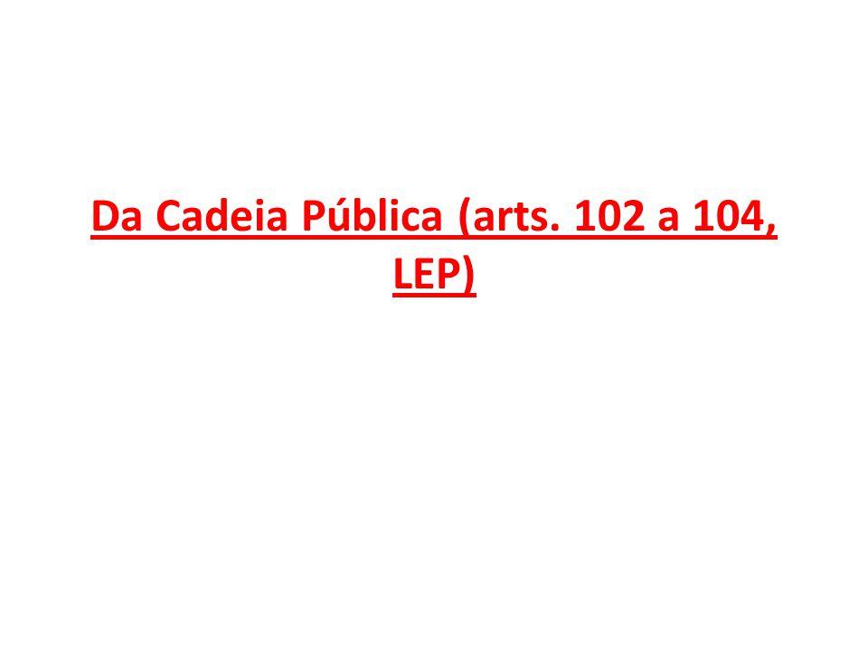 Da Cadeia Pública (arts. 102 a 104, LEP)