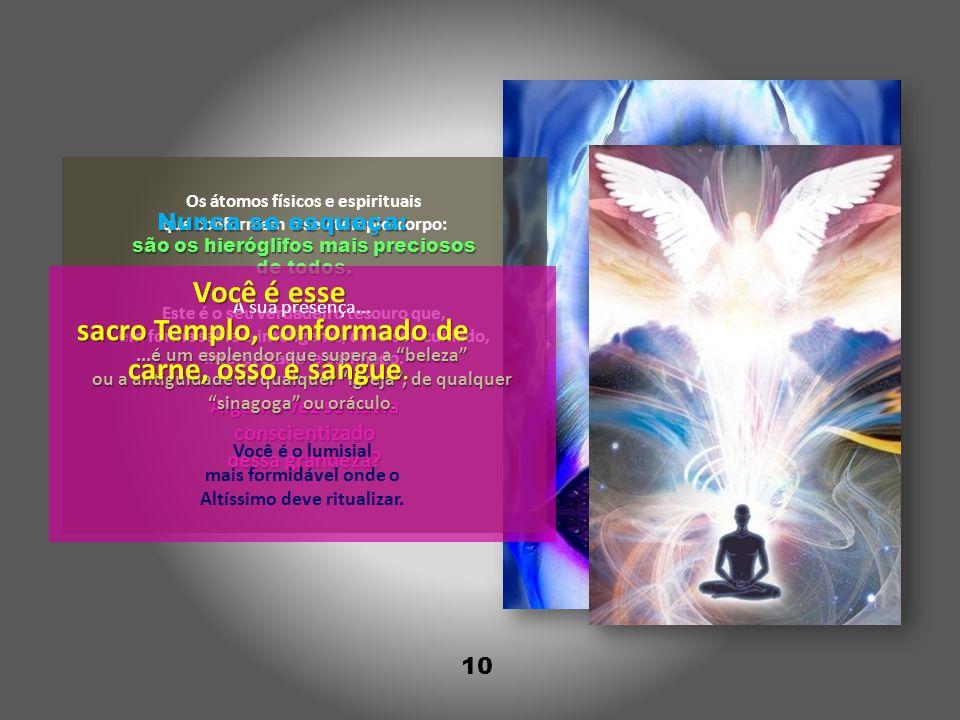 10 Os átomos físicos e espirituais que conformam o seu templo-corpo: são os hieróglifos mais preciosos de todos.