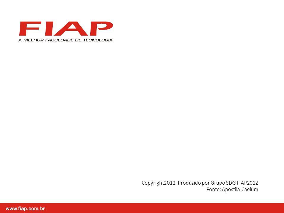 Copyright2012 Produzido por Grupo SDG FIAP2012 Fonte: Apostila Caelum
