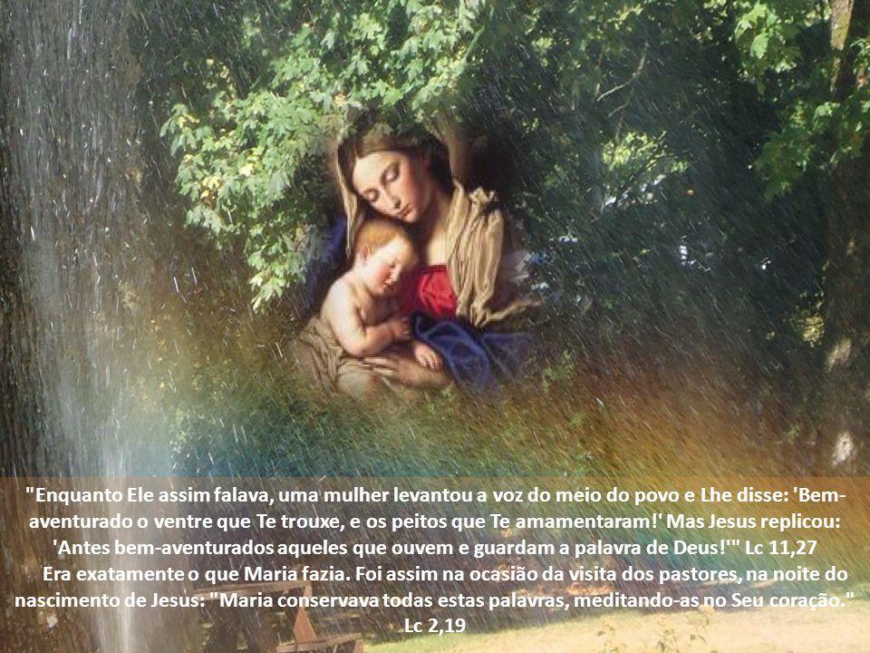 Como viesse a faltar vinho, a mãe de Jesus disse-Lhe: Eles já não têm vinho. Jo 2,3 Nessa ocasião, Ela já aconselhava às pessoas à Sua volta para que Lhes fossem obedientes e que não estranhassem Suas ordens: Disse, então, Sua mãe aos serventes: Fazei o que Ele vos disser. Jo 2,5.