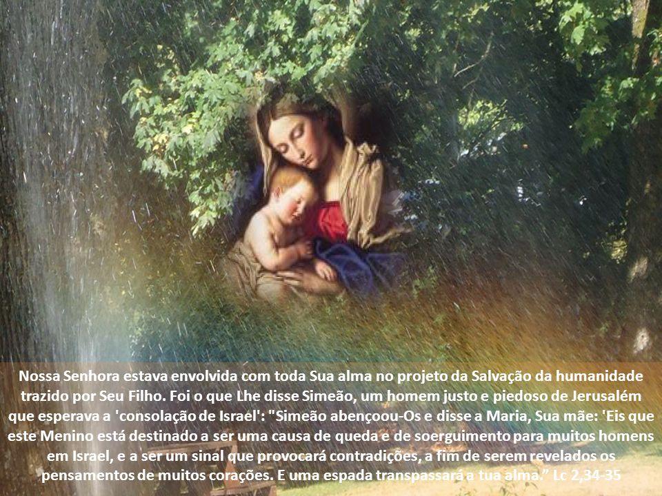 Nossa Senhora estava envolvida com toda Sua alma no projeto da Salvação da humanidade trazido por Seu Filho.