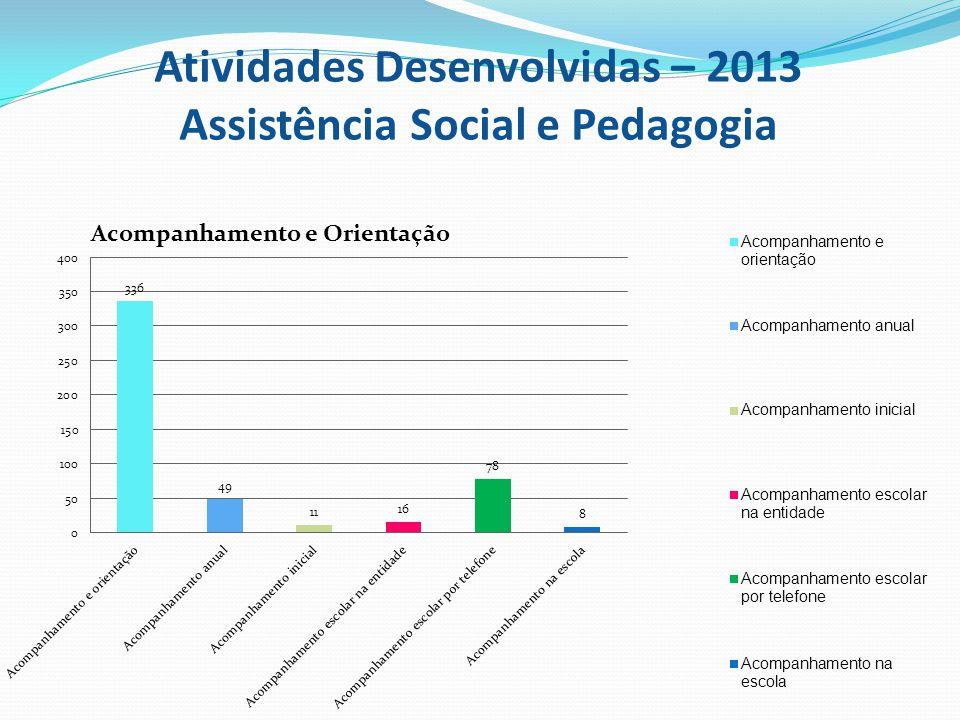 Atividades Desenvolvidas – 2013 Assistência Social e Pedagogia