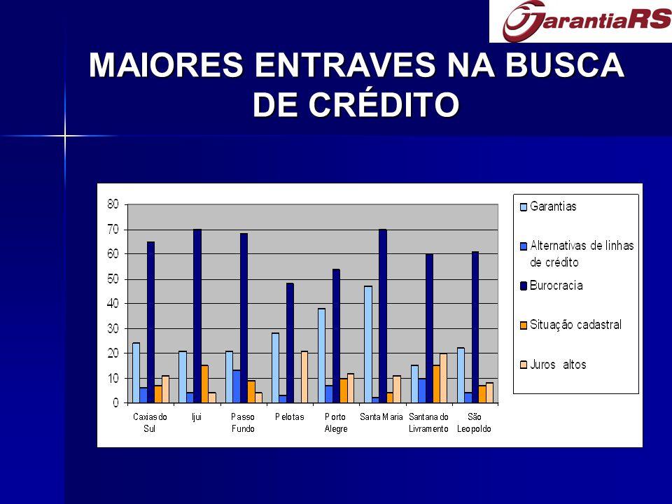 MAIORES ENTRAVES NA BUSCA DE CRÉDITO
