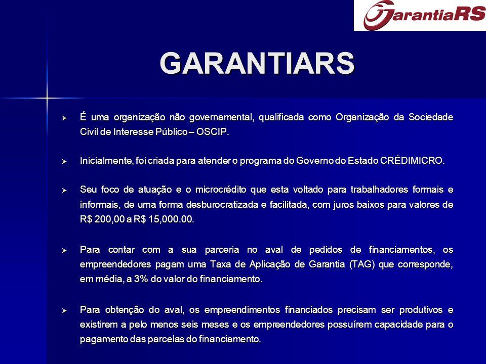GARANTIARS  É uma organização não governamental, qualificada como Organização da Sociedade Civil de Interesse Público – OSCIP.