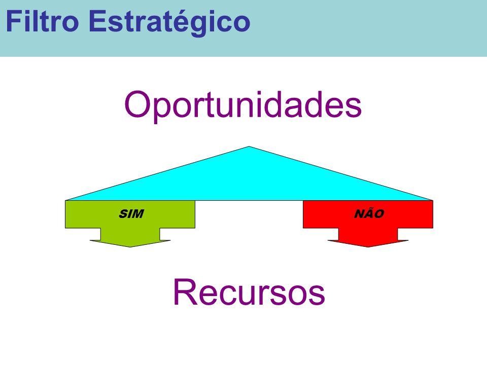 Oportunidades SIMNÃO Recursos Filtro Estratégico