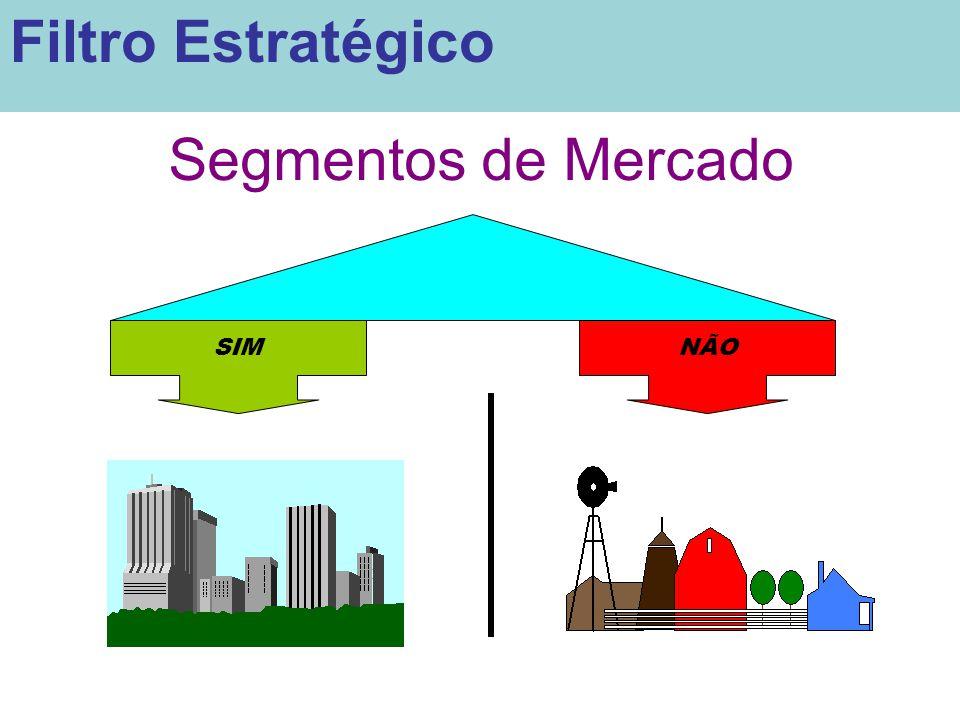 Segmentos de Mercado SIMNÃO Filtro Estratégico