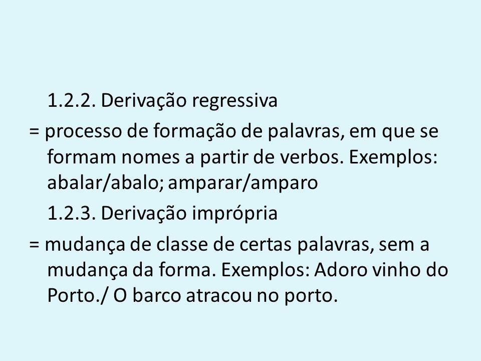 Processos Irregulares de Formação de Palavras 1.Extensão semântica = processo através do qual uma palavra existente adquire um novo significado.