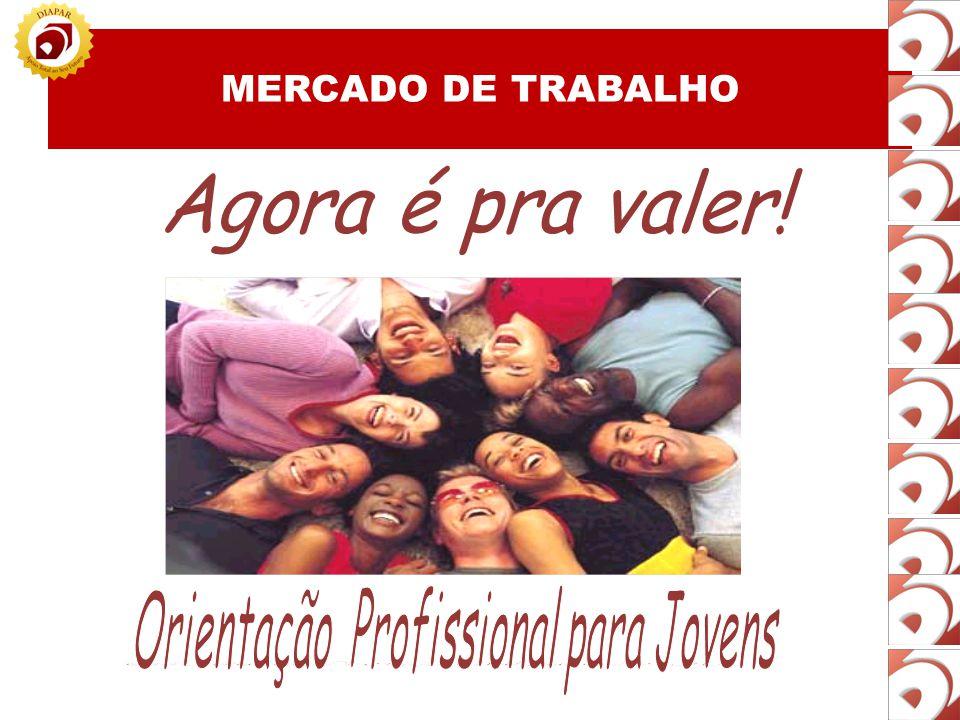 MERCADO DE TRABALHO Não busca conhecimentos que lhe confiram diferencial; Não percebe as necessidades do mercado; Não tem foco nos seus objetivos.