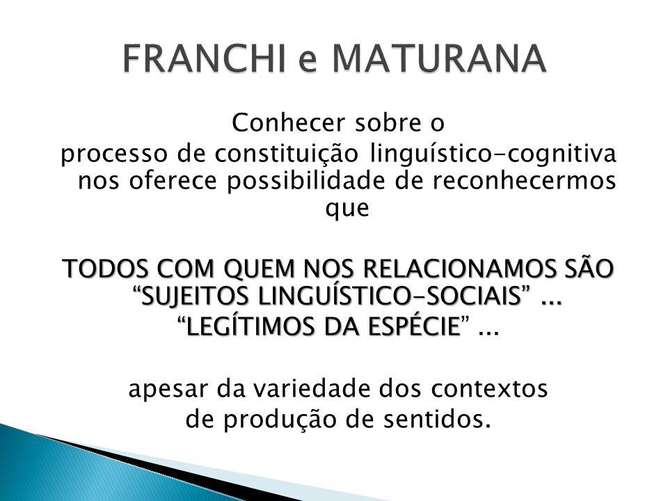 """Conhecer sobre o processo de constituição linguístico-cognitiva nos oferece possibilidade de reconhecermos que TODOS COM QUEM NOS RELACIONAMOS SÃO """"SU"""