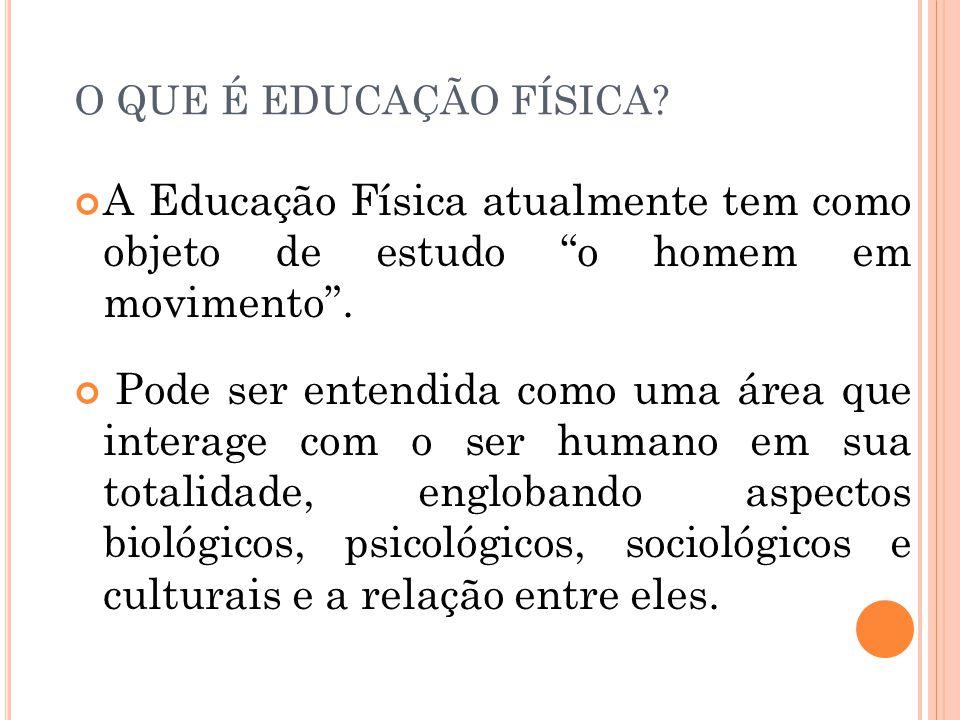 O QUE É EDUCAÇÃO FÍSICA.