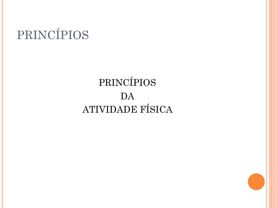 PRINCÍPIOS DA ATIVIDADE FÍSICA