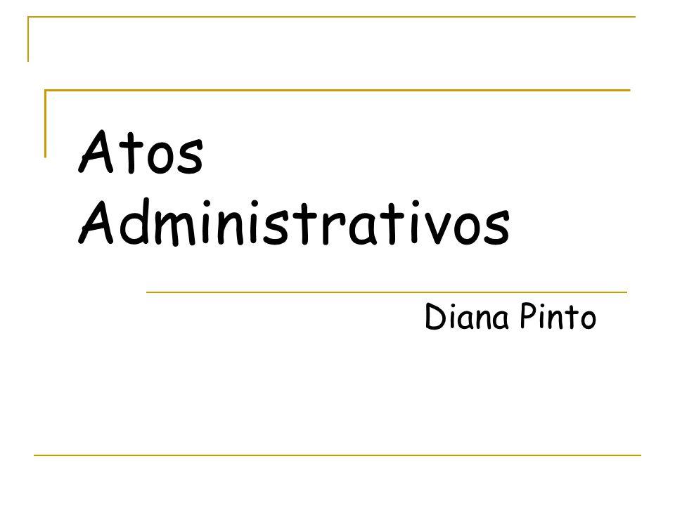 Atos Administrativos Diana Pinto