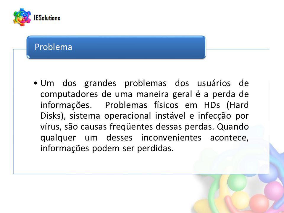 Um dos grandes problemas dos usuários de computadores de uma maneira geral é a perda de informações. Problemas físicos em HDs (Hard Disks), sistema op