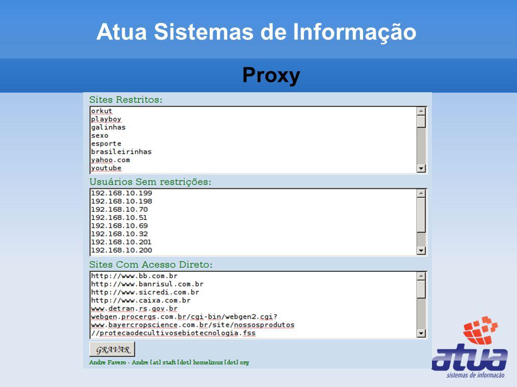 Proxy Atua Sistemas de Informação