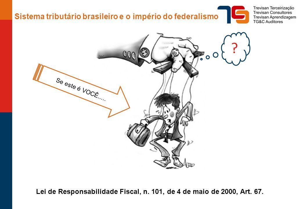 Sistema tributário brasileiro e o império do federalismo Fonte: elaborado pela autora com dados do IBPT (Instituto Brasileiro de Planejamento Tributário), 2012.