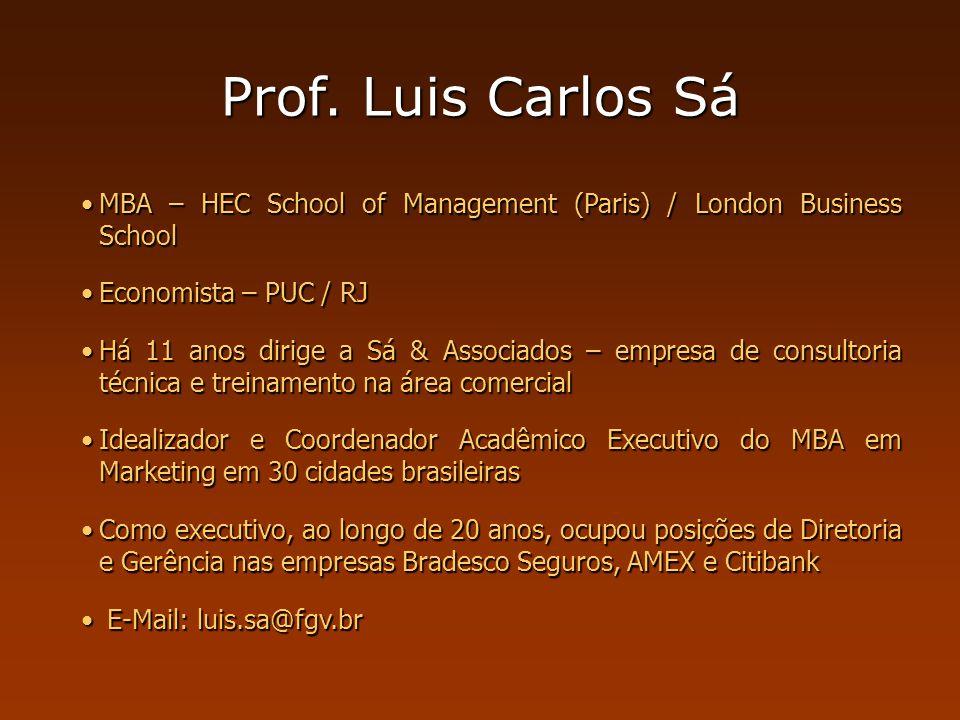 Prof. Luis Carlos Sá MBA – HEC School of Management (Paris) / London Business SchoolMBA – HEC School of Management (Paris) / London Business School Ec