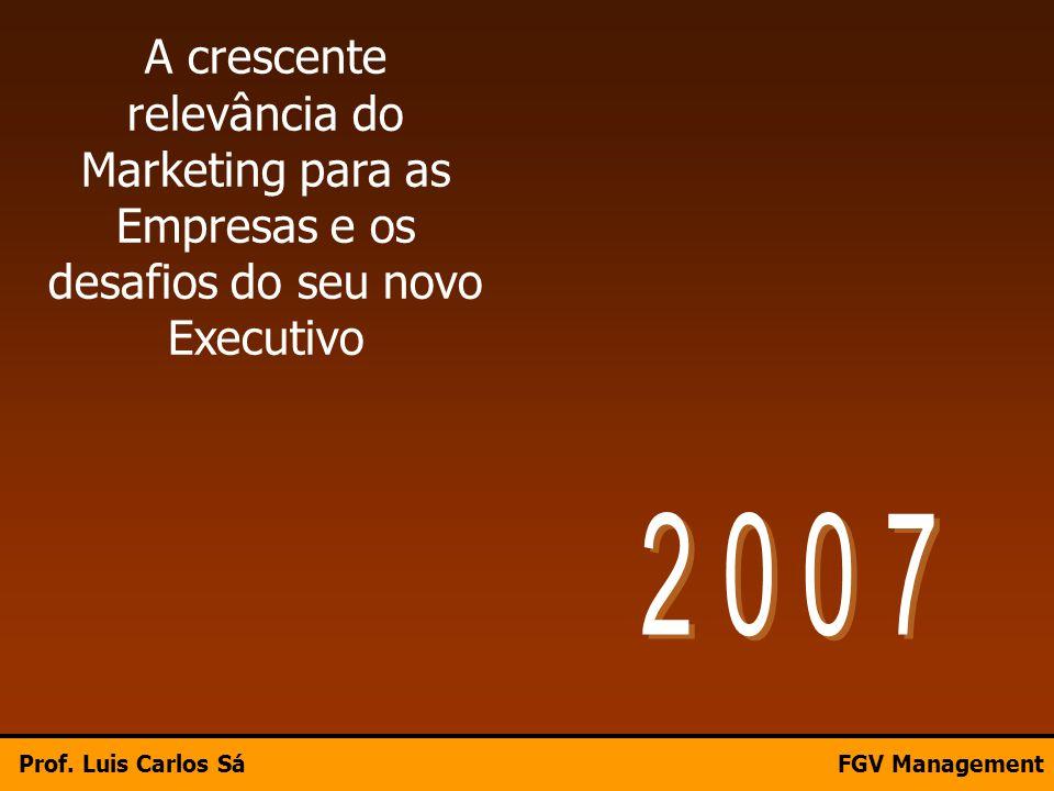 A crescente relevância do Marketing para as Empresas e os desafios do seu novo Executivo Prof. Luis Carlos SáFGV Management