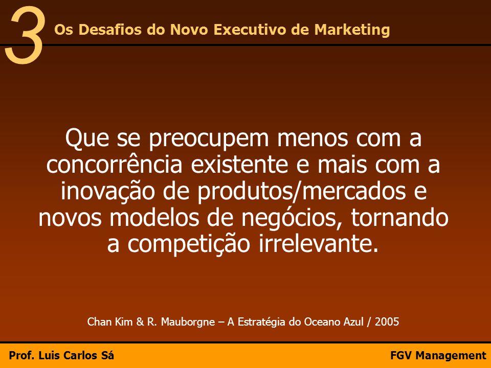Que se preocupem menos com a concorrência existente e mais com a inovação de produtos/mercados e novos modelos de negócios, tornando a competição irre