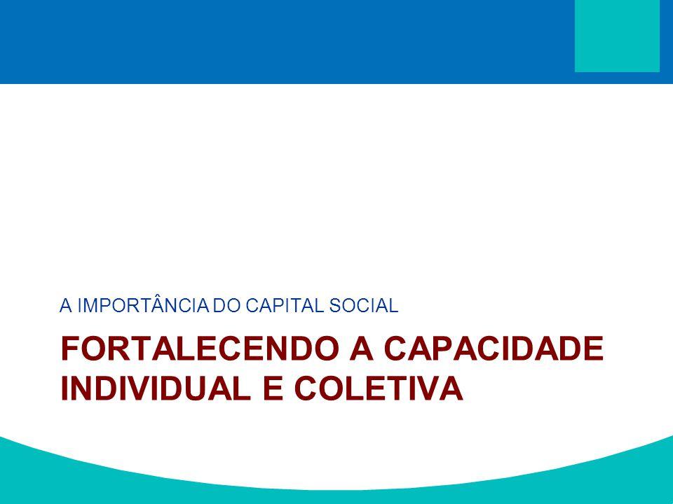A IMPORTÂNCIA DO CAPITAL SOCIAL FORTALECENDO A CAPACIDADE INDIVIDUAL E COLETIVA