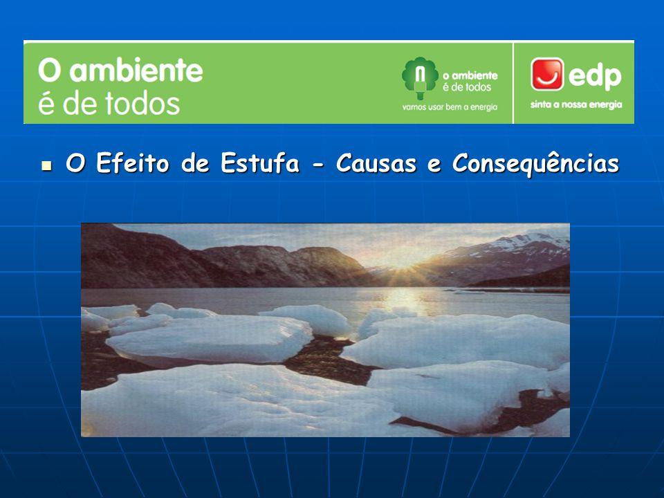 O Efeito de Estufa - Causas e Consequências O Efeito de Estufa - Causas e Consequências