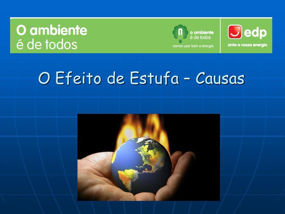 Causas - Entre as principais causas do efeito estufa estão: a queima de combustíveis fósseis (tanto a nível industrial como urbano); a devastação e queima de áreas florestais como a floresta Amazónica; a associação destes e outros processos.