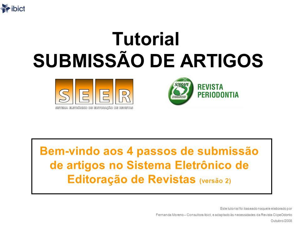 Caso seja um trabalho em co- autoria, o autor deve clicar em incluir autor.