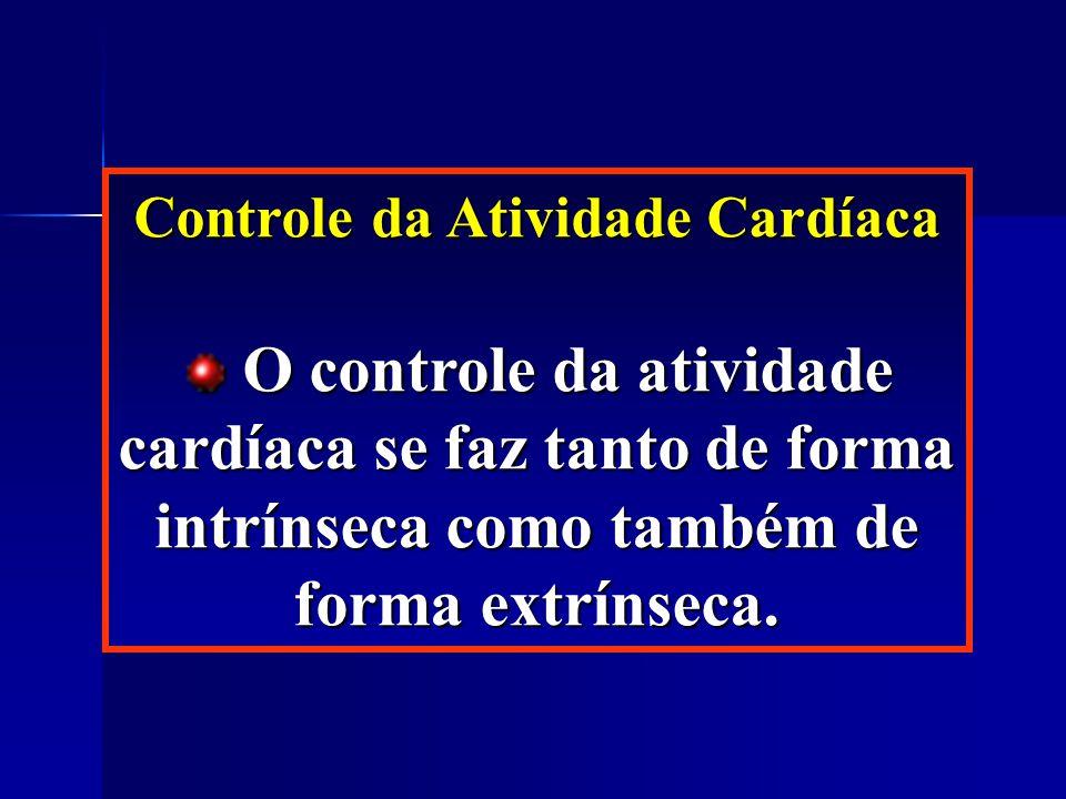 Controle da Atividade Cardíaca O controle da atividade cardíaca se faz tanto de forma intrínseca como também de forma extrínseca.