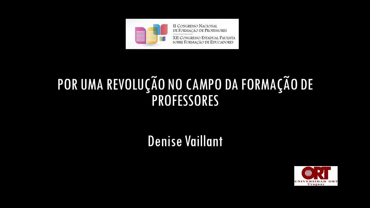 CRISIS NA FORMAÇÃO DE PROFESSORES  Modelos académicos indiferentes à realidades das escolas  Modelos professionalizantes indiferentes à complexidade REVOLUÇÃO NO CAMPO DA FORMAÇÃO DE PROFESSORES