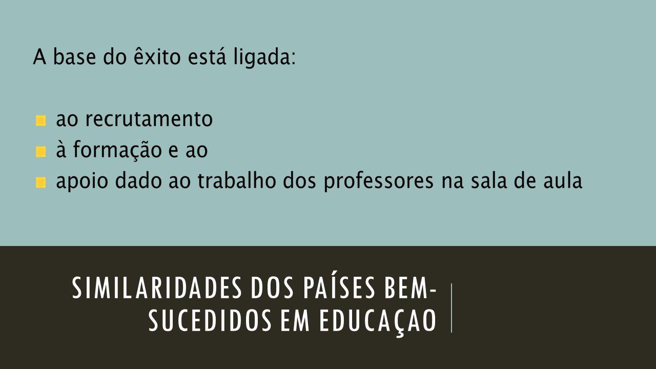 SIMILARIDADES DOS PAÍSES BEM- SUCEDIDOS EM EDUCAÇAO