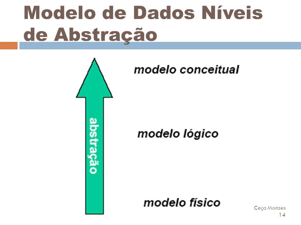 Ceça Moraes 14 Modelo de Dados Níveis de Abstração